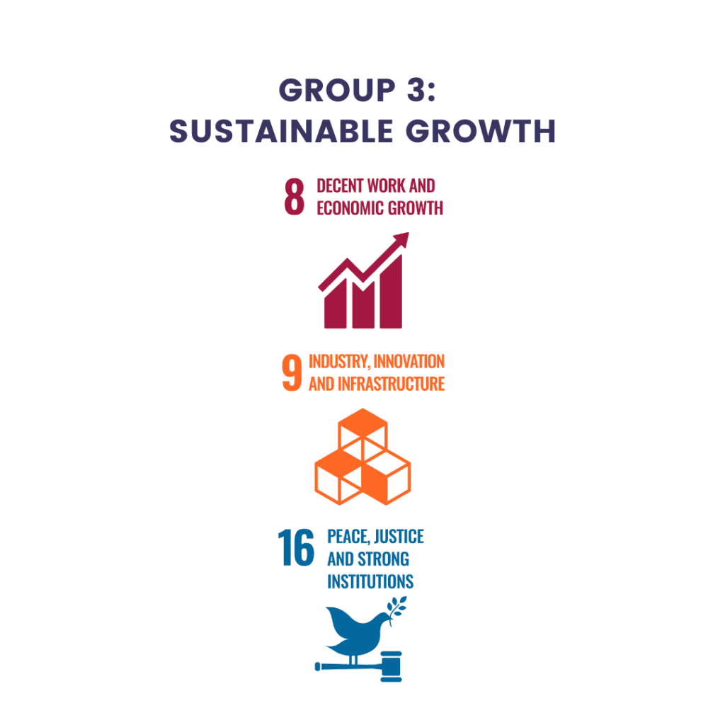 Sustainable Development Goals from the United Nations Group 3