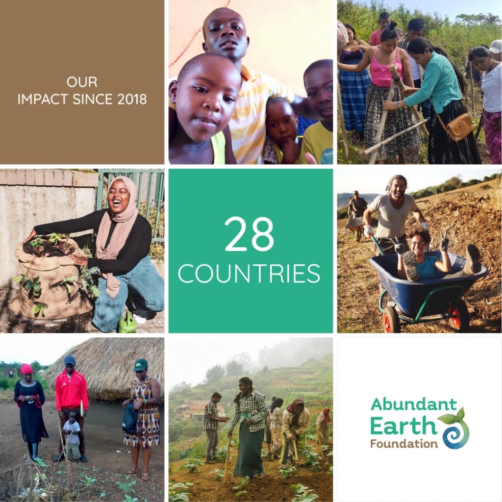 Donations to Abundant Earth Foundation Support growing health eocystems