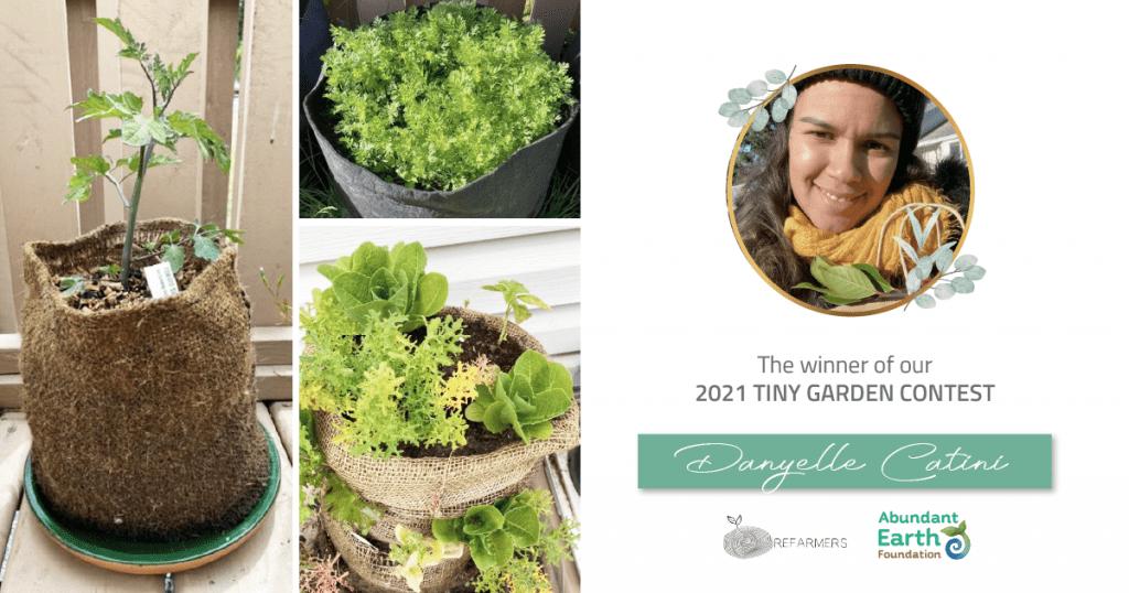 Tiny Garden Contest Winner newsletter image